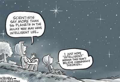 Jeff Koterba's latest cartoon: The search for intelligent life