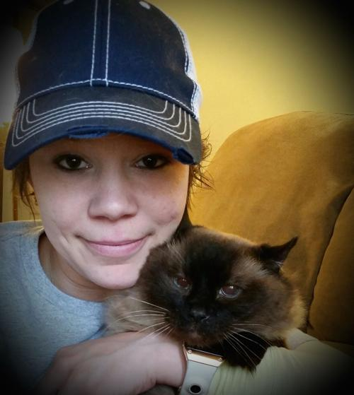 melissa and her cat