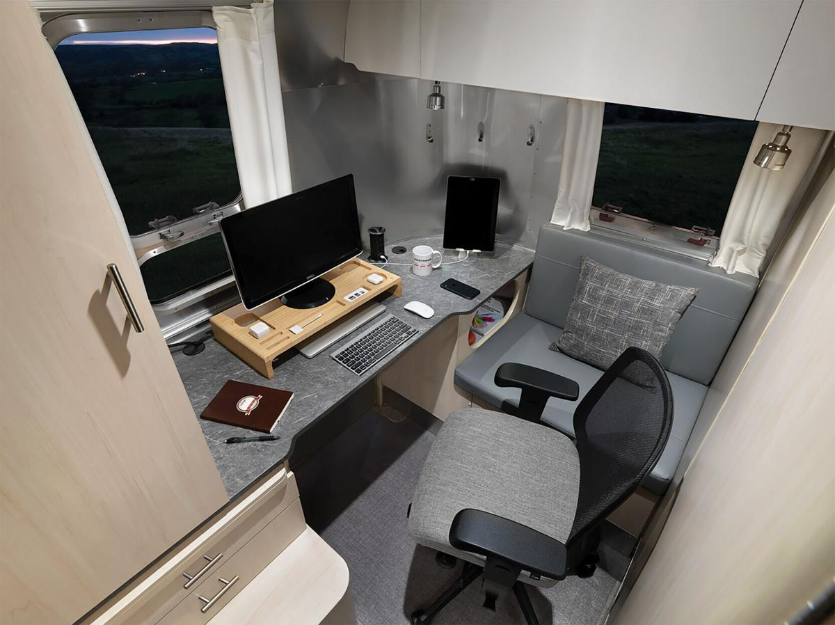 Airstream adds office space to its trailers so you can work from wherever