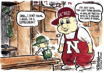 Jeff Koterba's latest cartoon: Looking for a bit o' luck