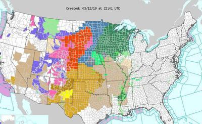 Massive storm moving across central U.S.