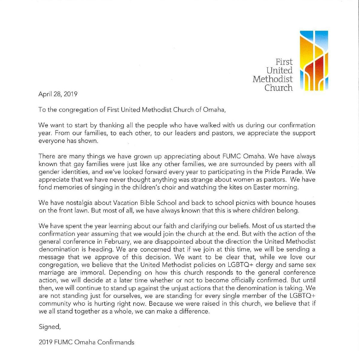 PDF: Letter from the confirmation class