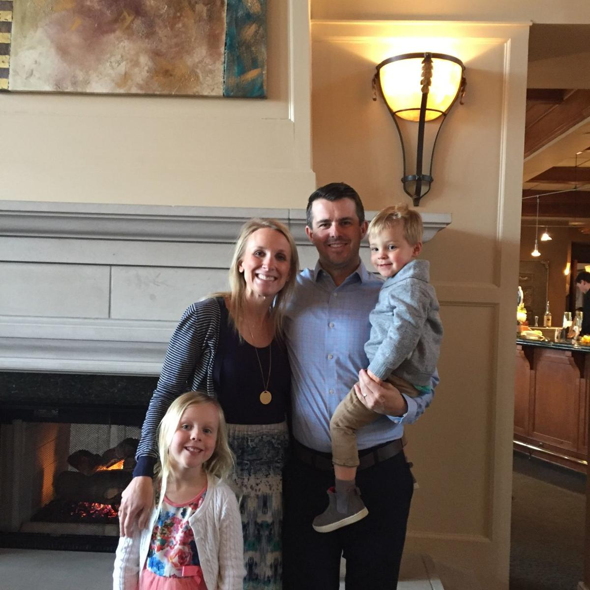 Jaime Wyant and family April 2018
