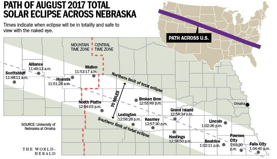 Eclipse Prep Traffic Jams Wildfires Among Concerns For Nebraska - Map of nebraska towns