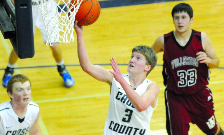 Cross County boys down Warriors in hoops