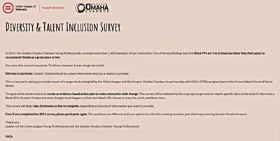 Greater Omaha Chamber Young Professionals survey