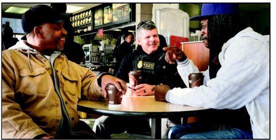 Talking shop over cup of joe