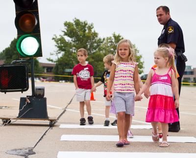 Kindergarten traffic training with Omaha Police (copy)