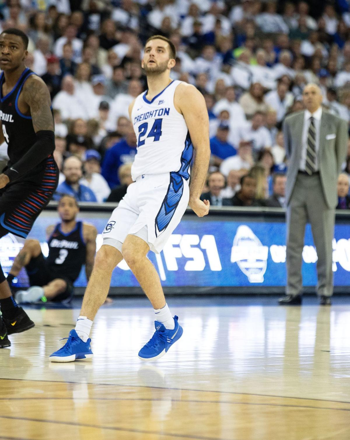 809597e8a254 Mitch Ballock breaks school record with 11 3-pointers as Creighton holds  off DePaul