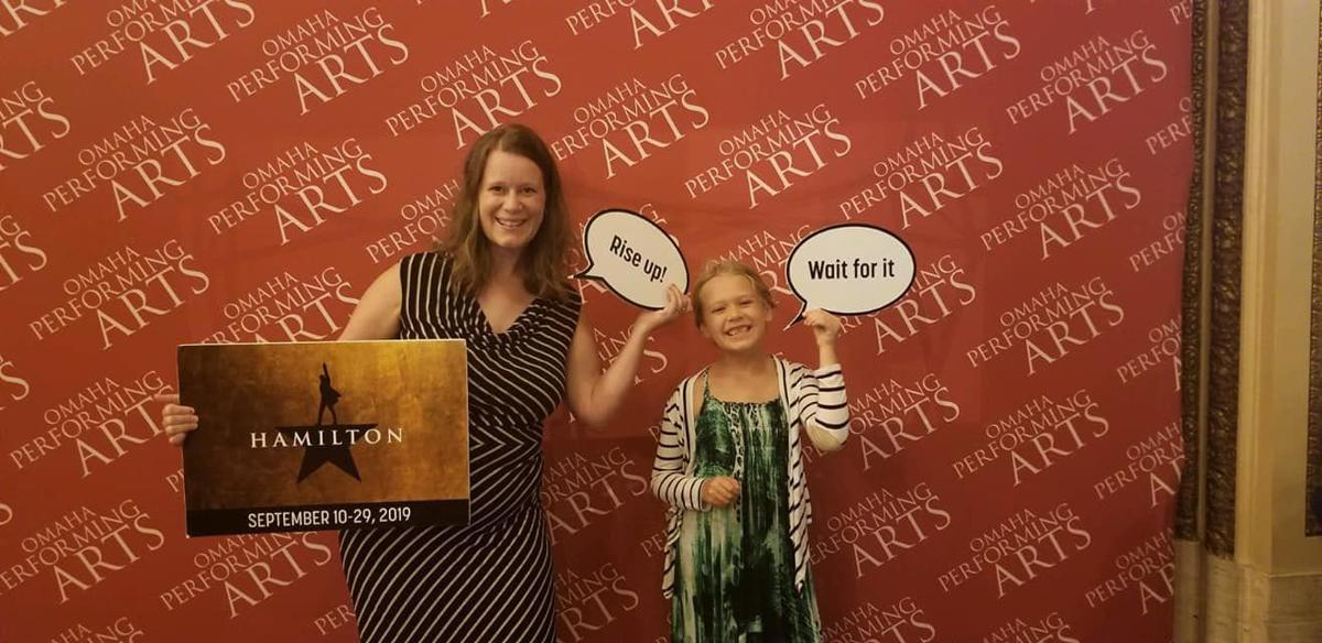 Jen Schneider and daughter at Hamilton