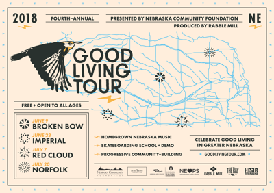 the good living tour headed to four nebraska cities go arts