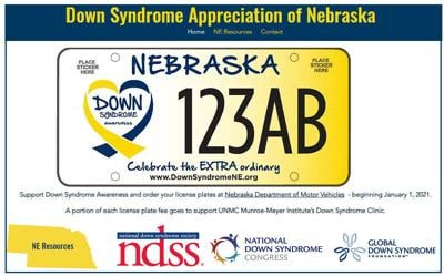 Down syndrome plate