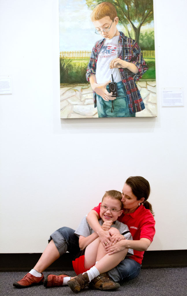 People With A Genetic Disorder Clamor To Have Omahan Paint Their Portraits Go Arts