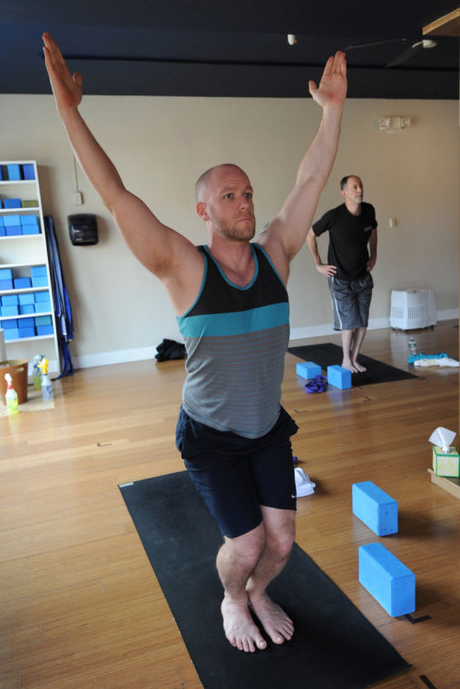 Men Strike A Pose In Yoga Classes Just For Them
