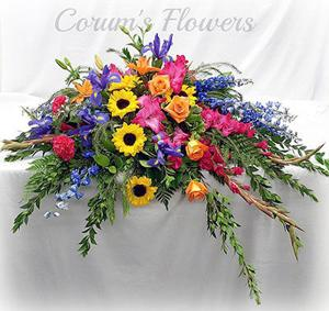 Corum's Flowers & Gifts | Greenhouse | Delivery| Council Bluffs | Omaha | Casket-Spray