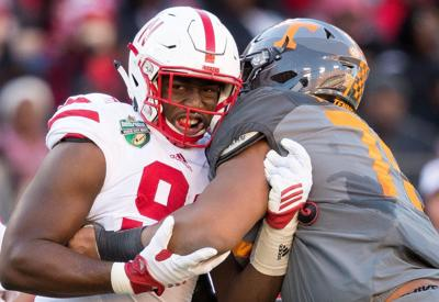 best service 9df47 c10e8 Husker defensive end Freedom Akinmoladun aims to become a ...