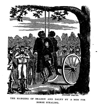 Horse thieves lynched