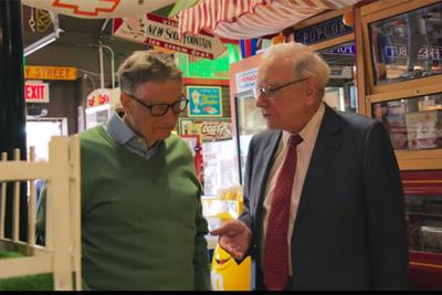 Warren Buffett with Bill Gates at Fairmont Antiques & Mercantile - teaser