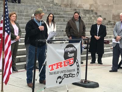 Property tax initiative rally