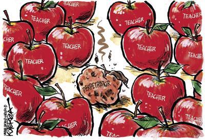 Jeff Koterba's latest cartoon: Bad apple