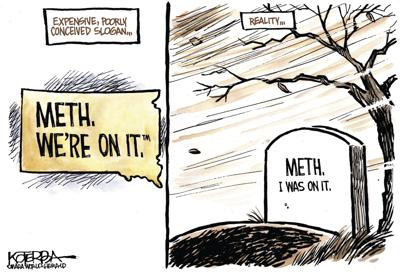 Jeff Koterba's latest cartoon: Bad slogan, bad drug