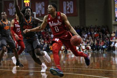 741a8b2cc4d James Palmer scored 29 points Sunday to help lift the Huskers past Oklahoma  State in South Dakota.