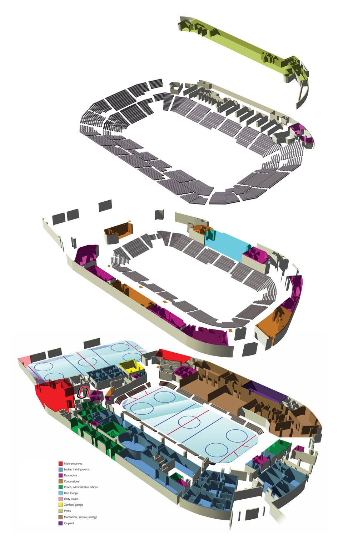 Baxter Arena - Layer map