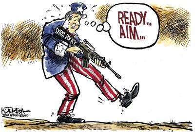 Jeff Koterba's latest cartoon: Ready ... aim ...