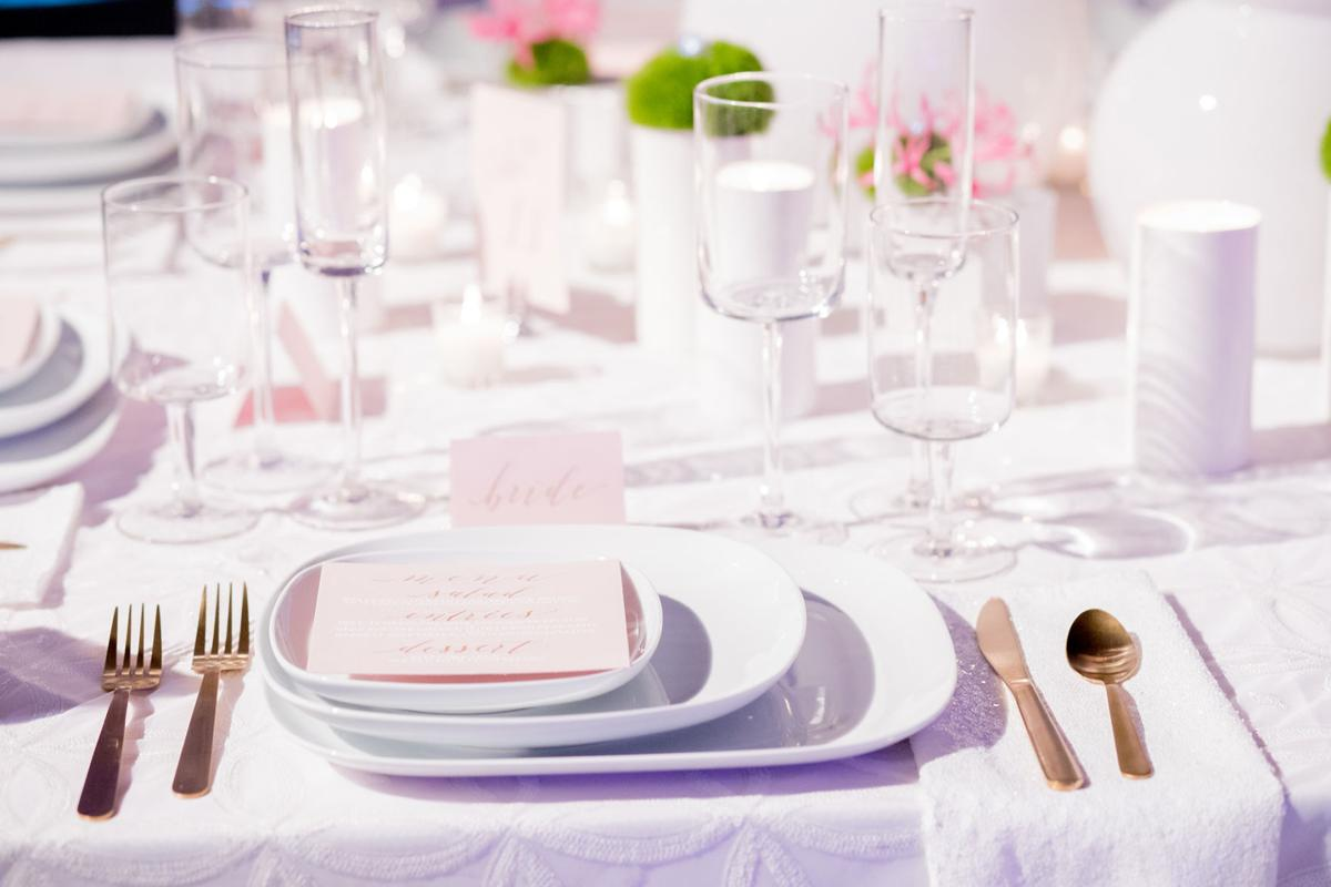 White Modern Geometric Wedding Decor Inspiration | Wedding ...