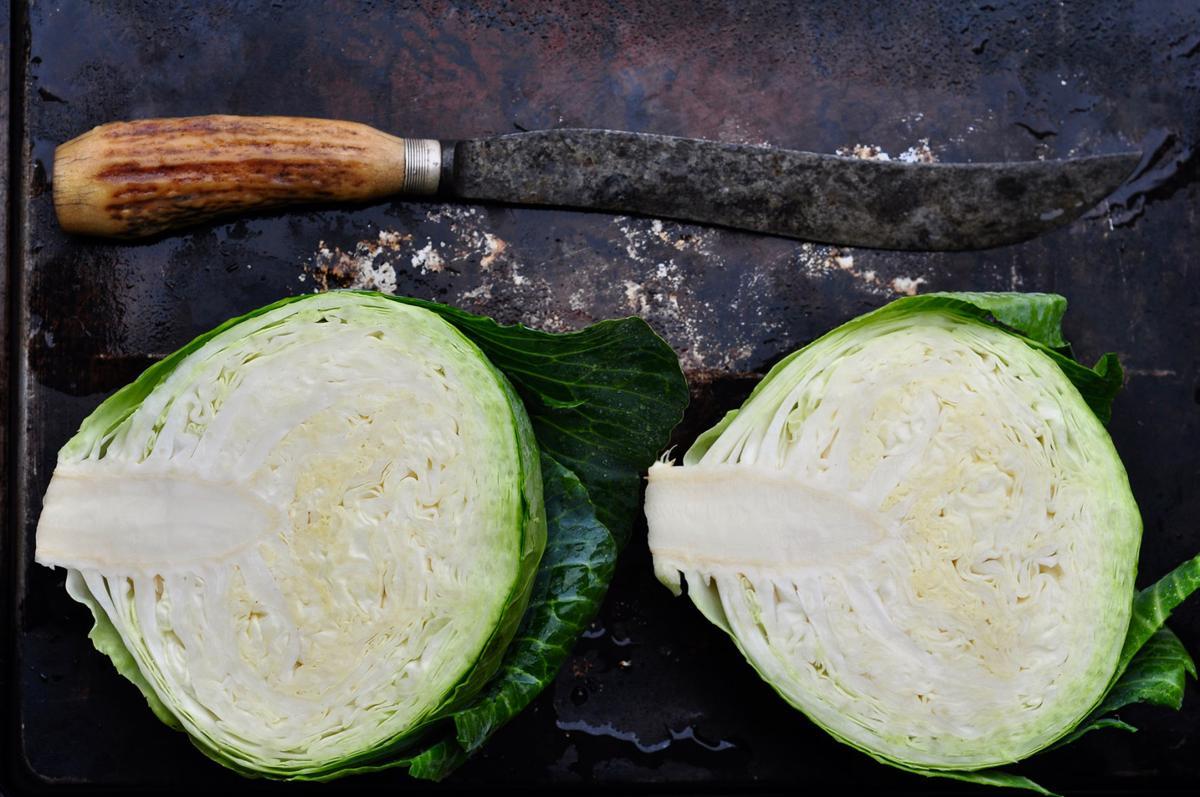 Cabbage halves