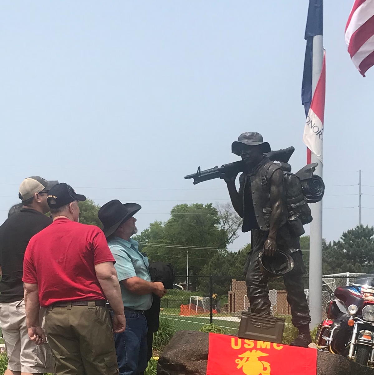 Unveiling the statue