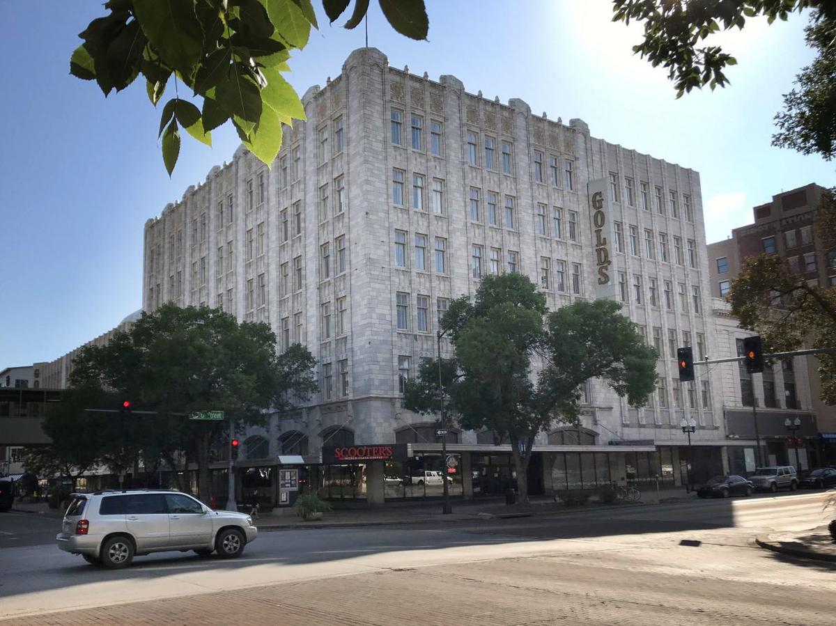 Northeast corner of Gold's building