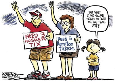Jeff Koterba's latest cartoon: That's the ticket