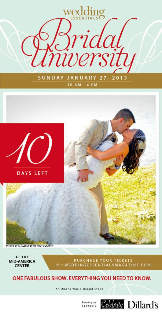 10 days left until Wedding Essentials Bridal University 2013!