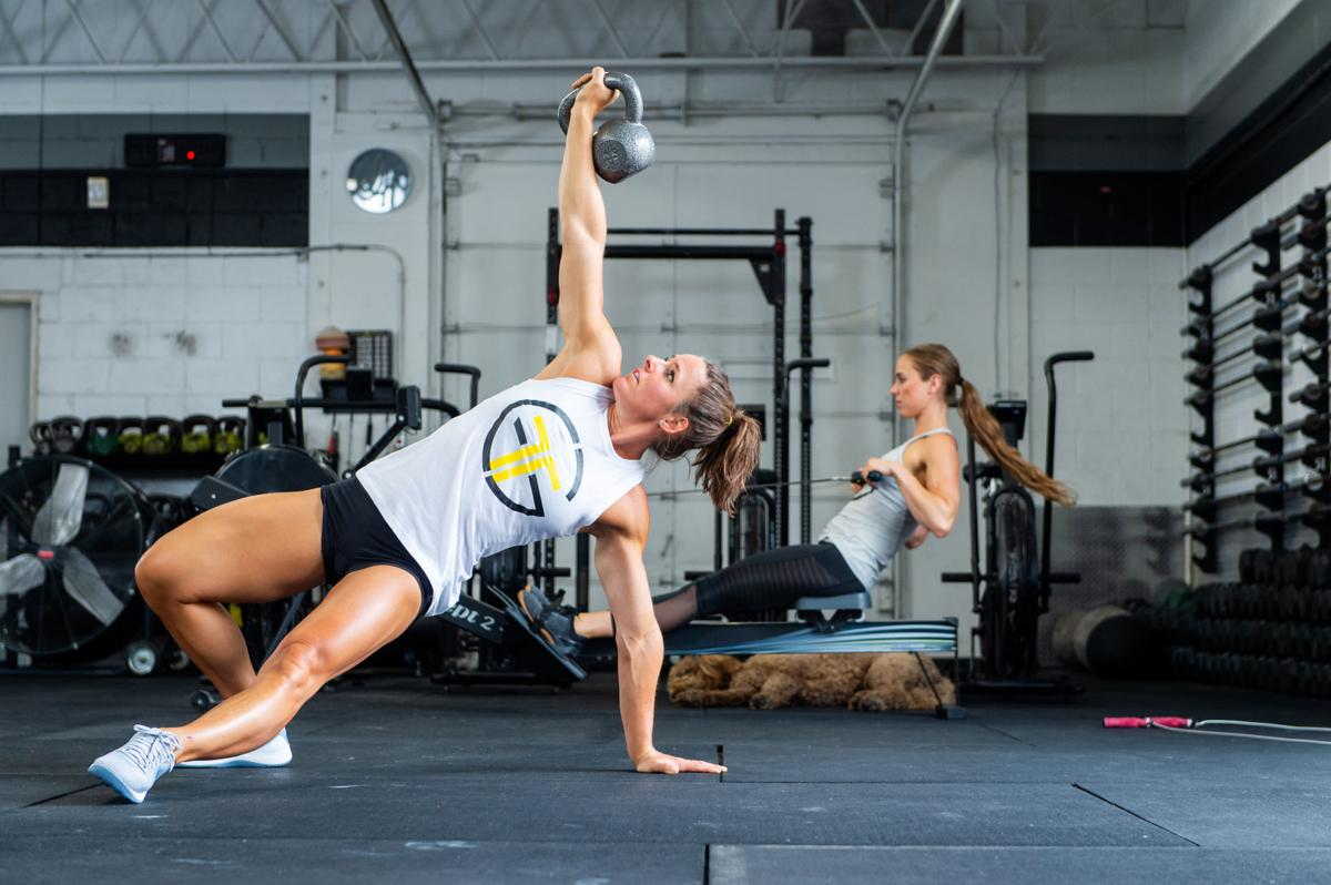 Stacie Tovar working out