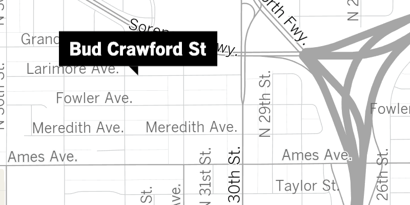 Bud Crawford map