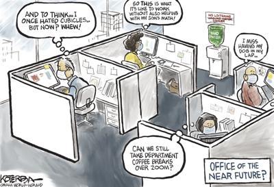 Jeff Koterba's latest cartoon: Office of the near future