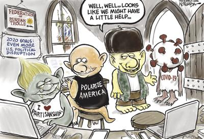 Jeff Koterba's latest cartoon: Trolls' new friend