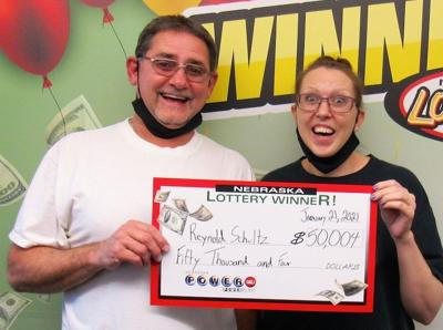 Reynold Schultz and Candace Day Powerball