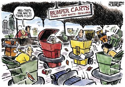 Jeff Koterba's latest cartoon: Don't trash the place