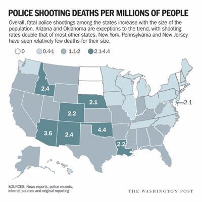 police shootings map