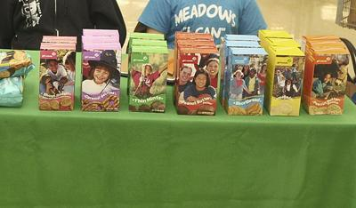 Girl Scout cookies on display