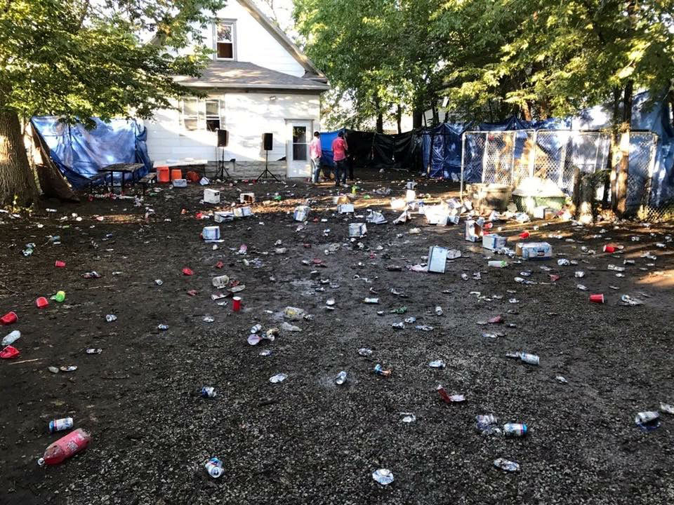 Trash Remains After A Party Oct 7 At 913 New Hampshire St In Lincoln