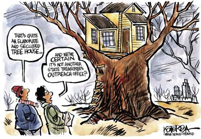 Jeff Koterba's latest cartoon: Tax dollars don't grow on trees