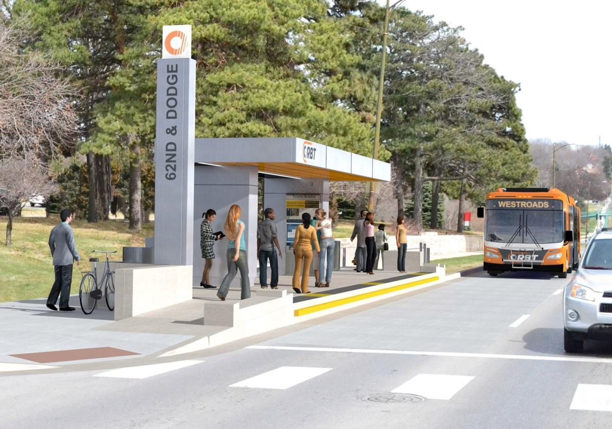 ORBT bus shelter at UNO