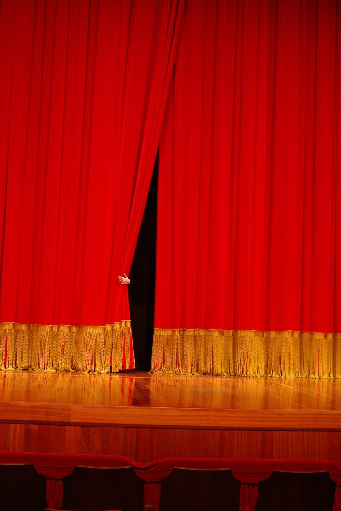 Theater curtain teaser