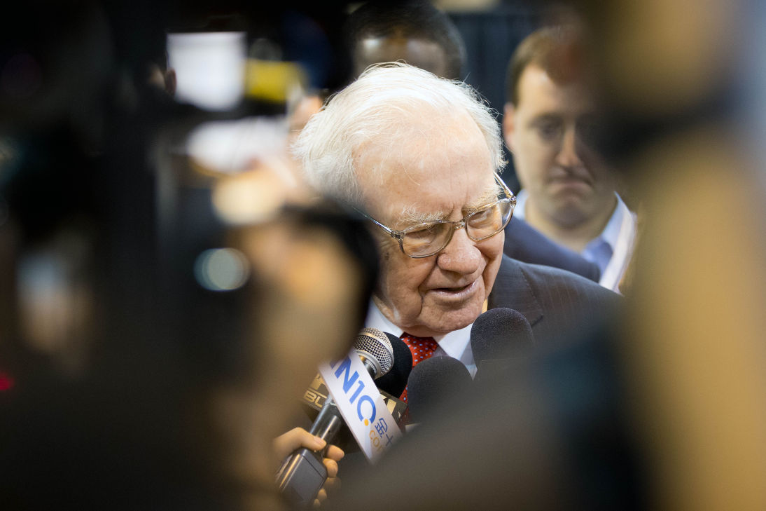 warren buffett on exhibition floor