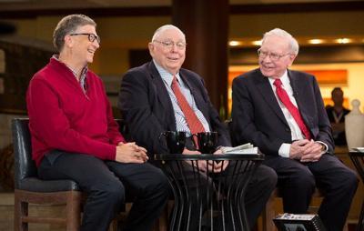 Bill Gates, Charlie Munger and Warren Buffett