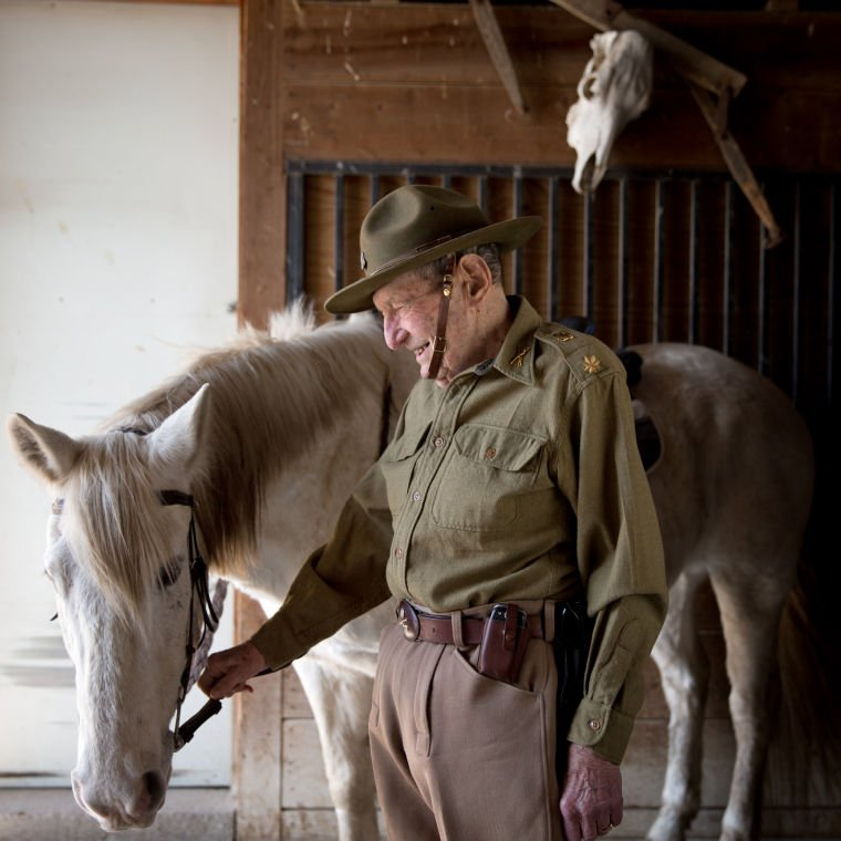 Ketzler, 89, was a cavalryman to the end