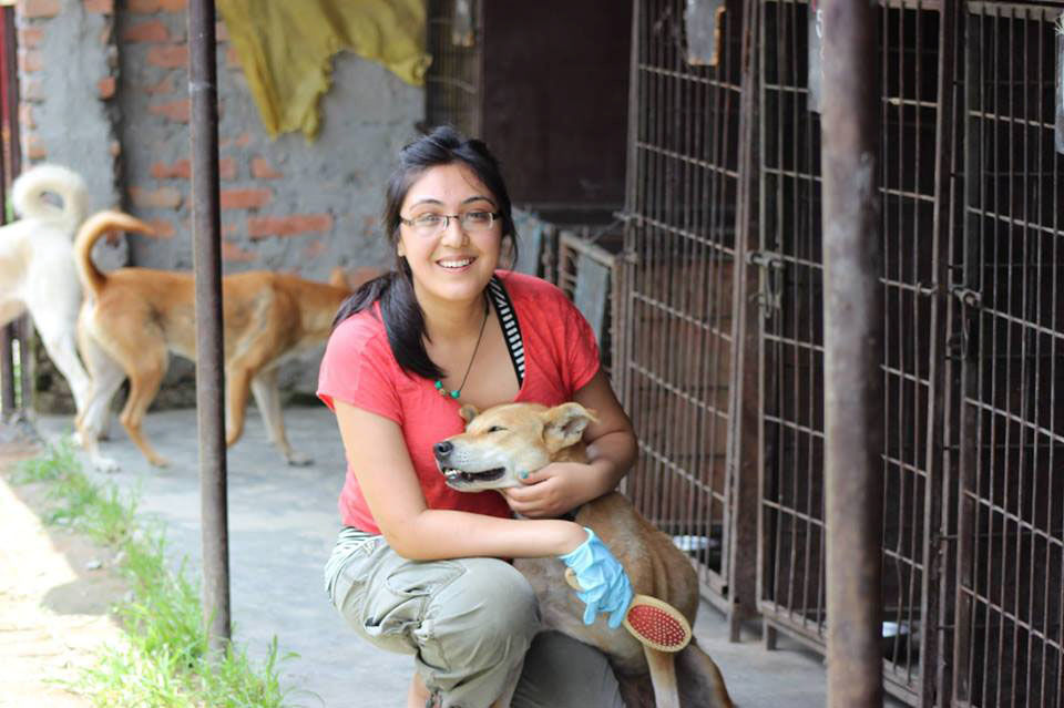 Student heads to quake-hit home on dogs mission